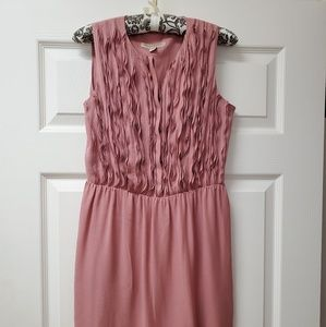 Burberry London Dusty Pink Silk Dress